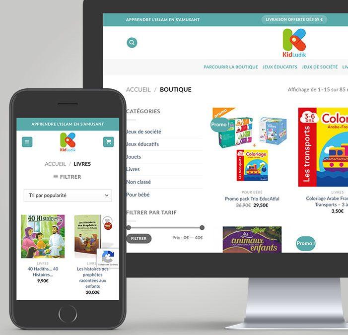 E-commerce Kidludik : vente en ligne de jeux ludiques