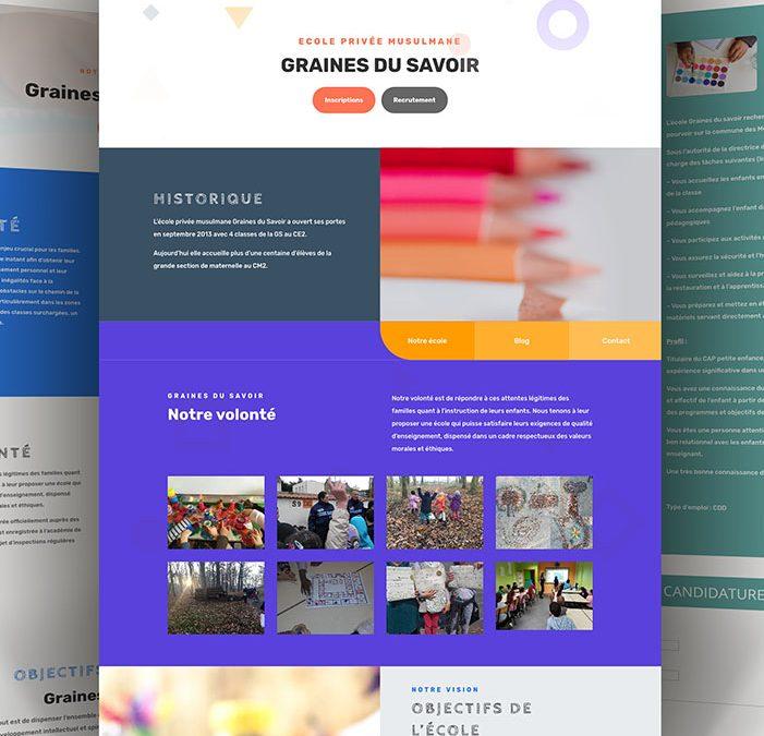 Site internet ecole privée Graines du savoir